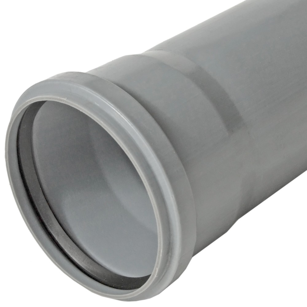 Труба PP-H с раструбом серая BASE Дн 110х2,7х0,25м VALFEX 201100025