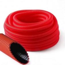 Труба двустенная ( двухслойная ) гофрированная d 110 мм бухта 50 м синий/красный