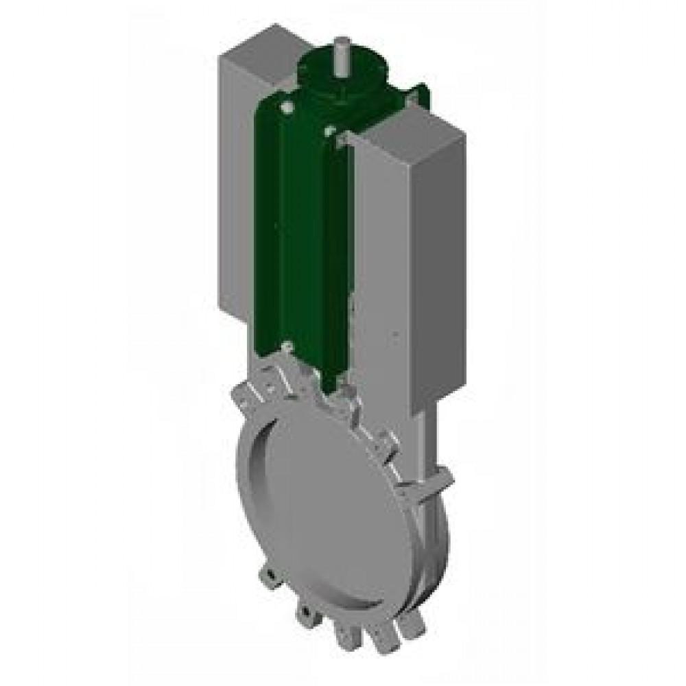 Задвижка шиберная односторонняя нерж VG6400-004EP Ду 300 Ру7 межфланцеваяанцевая под электропривод уплотнение: ЭПДМ Tecofi VG6400-004EP0300