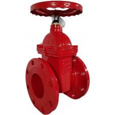 Задвижка чугунная VOC4241R  МЗВГ обрезиненный клин Ду 50 Ру16 до +110 фланцевая красная Tecofi VOC4241R-00EP0050