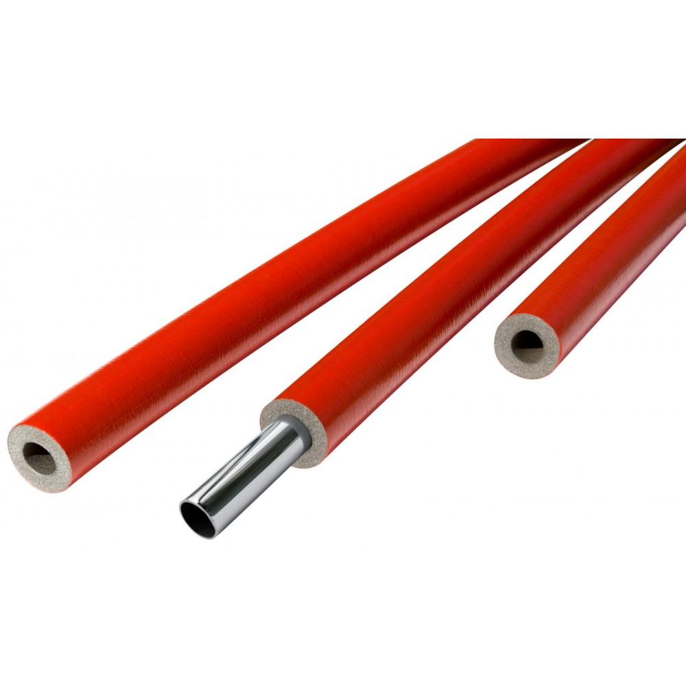 Трубка вспененный полиэтилен SUPER PROTECT 18/6 L=2м Тмакс=95°C в защитной оболочке красный Energoflex EFXT018062SUPRK