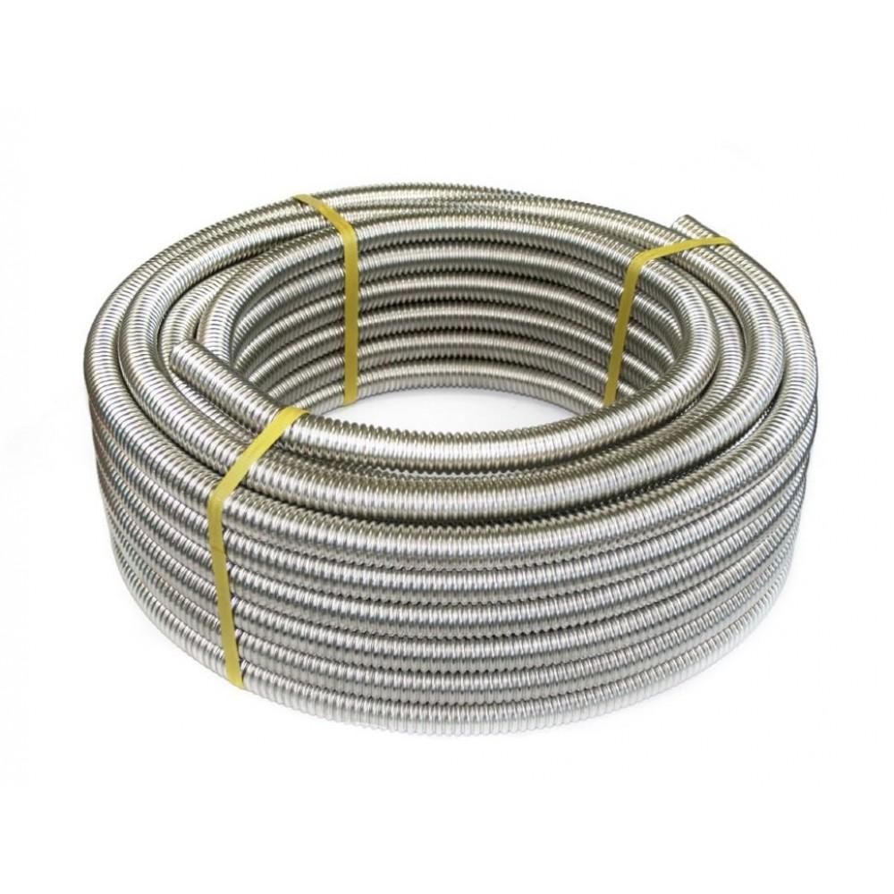 Труба гофрированная сталь нерж SS304 IWS 32A Ду 32х0,3 Ру15 неотожженная бухта 20м STAHLMANN (Neptun)