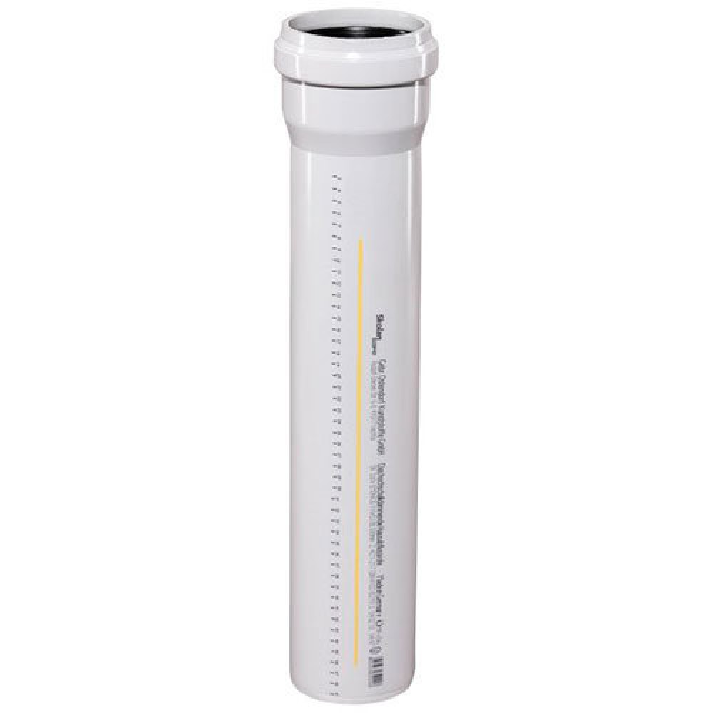 Труба (PP-MD) с раструбом бесшумная светло-серая Skolan dB SKEM Дн 135х5,3 (DN125)х0,15м Ostendorf 336000