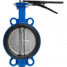 Затвор дисковый поворотный чугунный Ду 40 Ру16 межфланцевый с рукояткой диск нерж EURO Benarmo