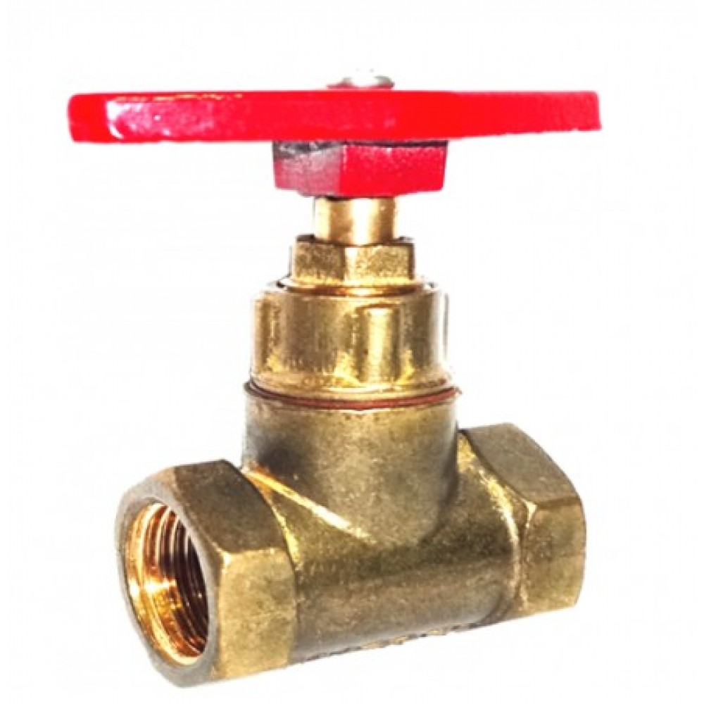 Клапан запорный латунный 15б1п Ду 40 Ру16 ВР прямой ТУ РБ 500059277.015-2000 Цветлит ZW20015