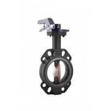 Затвор дисковый поворотный чугунный ЗДМ Ду 40 Ру16 межфланцевый с рукояткой диск чугунный манжета EPDM Ридан 082X4400