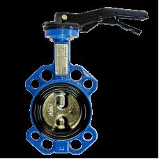 Затвор дисковый поворотный стальной VP5445S-02EP Ду 50 Ру16 межфланцевый с рукояткой диск стальной манжета EPDM Tecofi VP5445S-02EP0050
