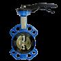 Затвор дисковый поворотный стальной VP5445S-02EP Ду 100 Ру16 межфланцевый с рукояткой диск стальной манжета EPDM Tecofi VP5445S-02EP0100