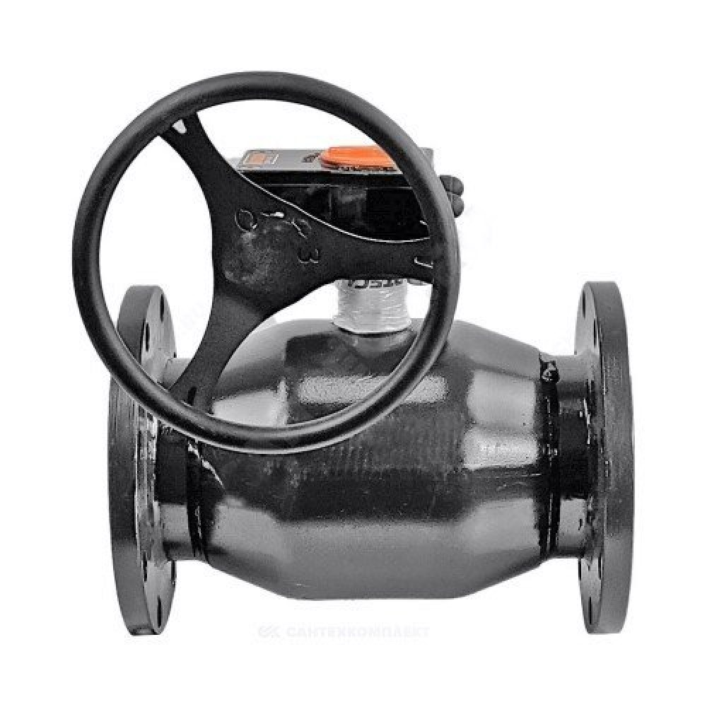 Кран шаровой стальной 11с67п Ду 250 Ру16 фланцевый с редуктором FORTECA 183.2.250.016