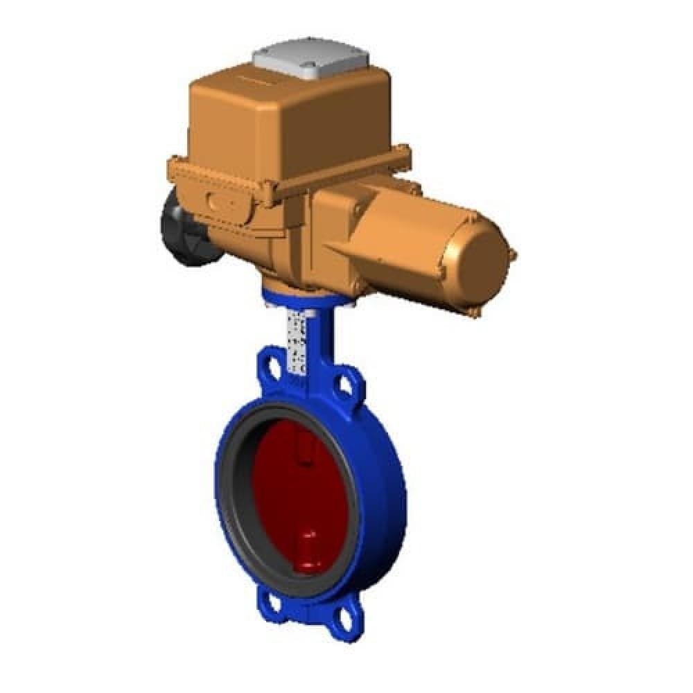 Затвор дисковый поворотный чугунный VPI4448-B24EP Ду 250 Ру16 межфланцевый с эл/приводом диск чугунный манжета EPDM Tecofi VPI4448-B24EP0250