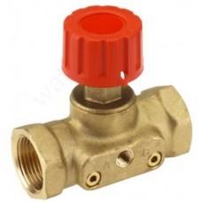 Клапан запорный ручной латунь CDT Ду 15 Ру16 ВР Kvs=1.6м3/ч б/ниппелей Danfoss 003Z7691