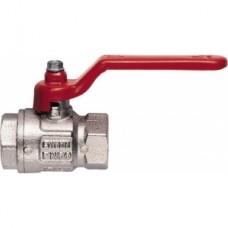 Кран шаровой полнопроходной ITAP IDEAL 090 - 1/2' (ВР/ВР, PN50, Tmax 150°С, ручка-рычаг красная) 26205
