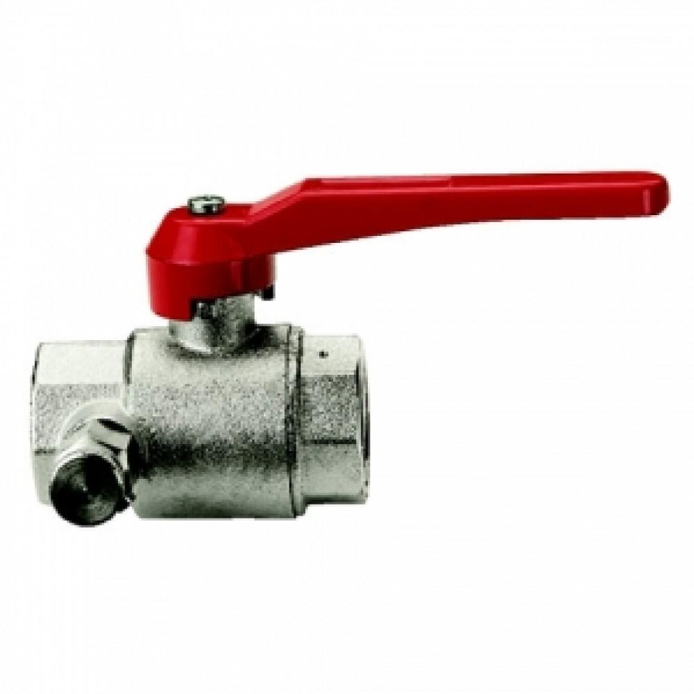 Кран шаровой полнопроходной ITAP 115 - 2' (ВР/ВР, PN20, Tmax 110°С, ручка-рычаг красная) 28576