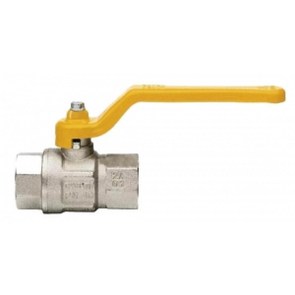 Кран шаровой полнопроходной ITAP LONDON 066 - 3/4' (ВР/ВР, PN5, ручка-рычаг желтая, для газа) 066B034