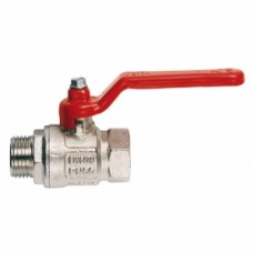 Кран шаровой полнопроходной ITAP IDEAL 091 - 1/2' (НР/ВР, PN50, Tmax 150°С, ручка-рычаг красная) 26090
