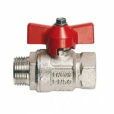 Кран шаровой полнопроходной ITAP IDEAL 093 - 1/2' (НР/ВР, PN50, Tmax 150°С, ручка-бабочка красная) 27464S