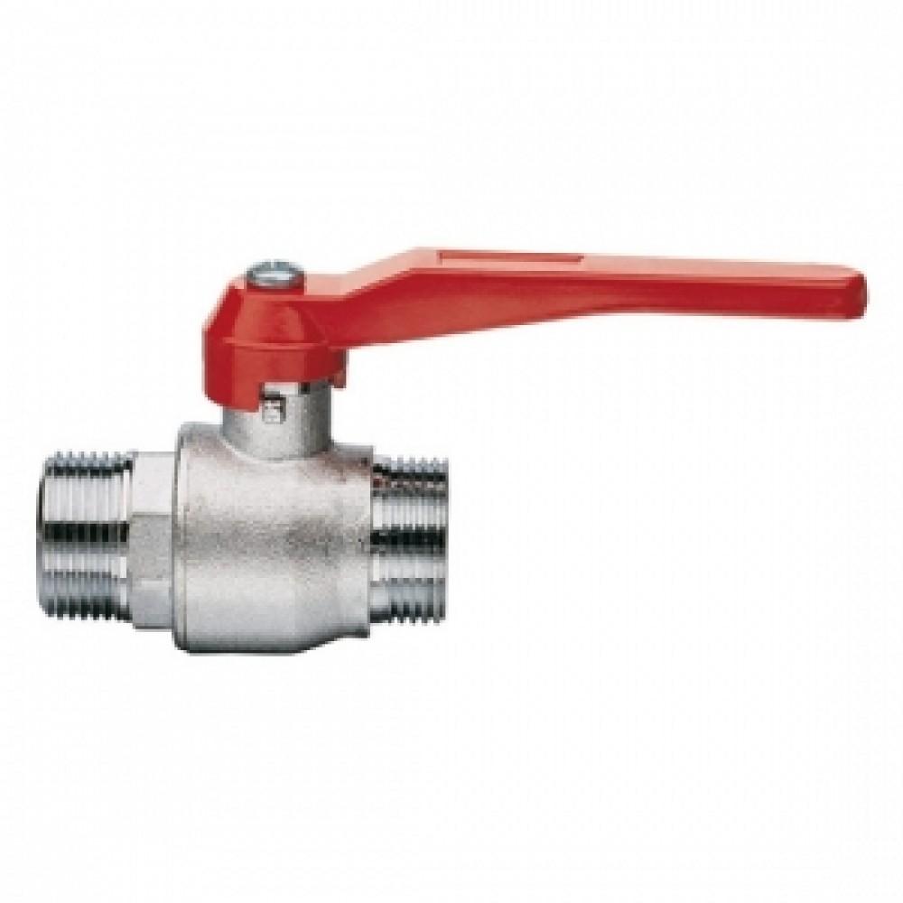 Кран шаровой полнопроходной ITAP 099 - 1'1/4 (НР/НР, PN30, Tmax 95°С, ручка-рычаг красная) 28572K