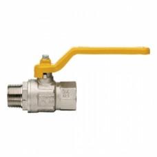 Кран шаровой полнопроходной ITAP LONDON 067 - 1/2' (НР/ВР, PN5, ручка-рычаг желтая, для газа) 067B012