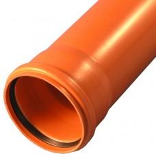 Труба PP-B с раструбом коричневая Дн 110х3,4 б/нап SN4 L=0,5м VALFEX 301100050