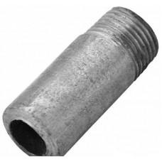 Резьба стальная  удлиненная оцинкованный Ду 15 L=50мм из труб по ГОСТ 3262-75