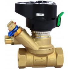 Клапан балансировочный ручной латунь MVT Ду 15 Ру20 ВР Kvs=3м3/ч с изм/нип без выхода под имп трубку Danfoss 003Z4081