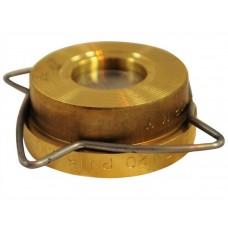 Клапан обратный латунь осевой RK41 Ду 15 Ру16 Тмакс=250 оС межфланцевый диск нерж Gestra RK41015