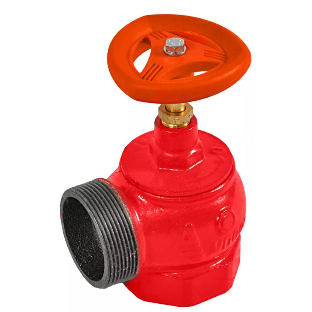 Клапан пожарный чугунный угловой 90 гр КПЧМ 65-1 Ду 65 1,6 МПа муфта-цапка Апогей 110031