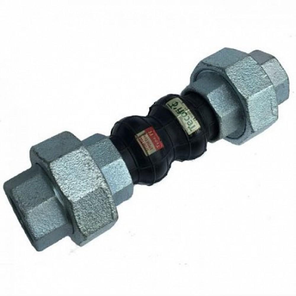 Компенсатор резиновый антивибрационный EPDM DI7140N Ду 20 Ру16 ВР L=200мм Tecofi DI7140N-0020 сжатие/растяжение 22/6