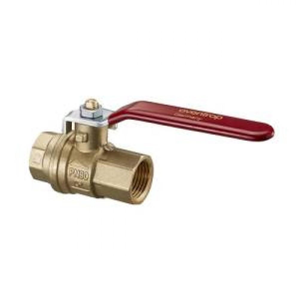 Кран шаровой полнопроходный Oventrop EZB - 3/4' (ВР/ВР, PN30, Tmax 120°C, ручка-рычаг красная) 1079006