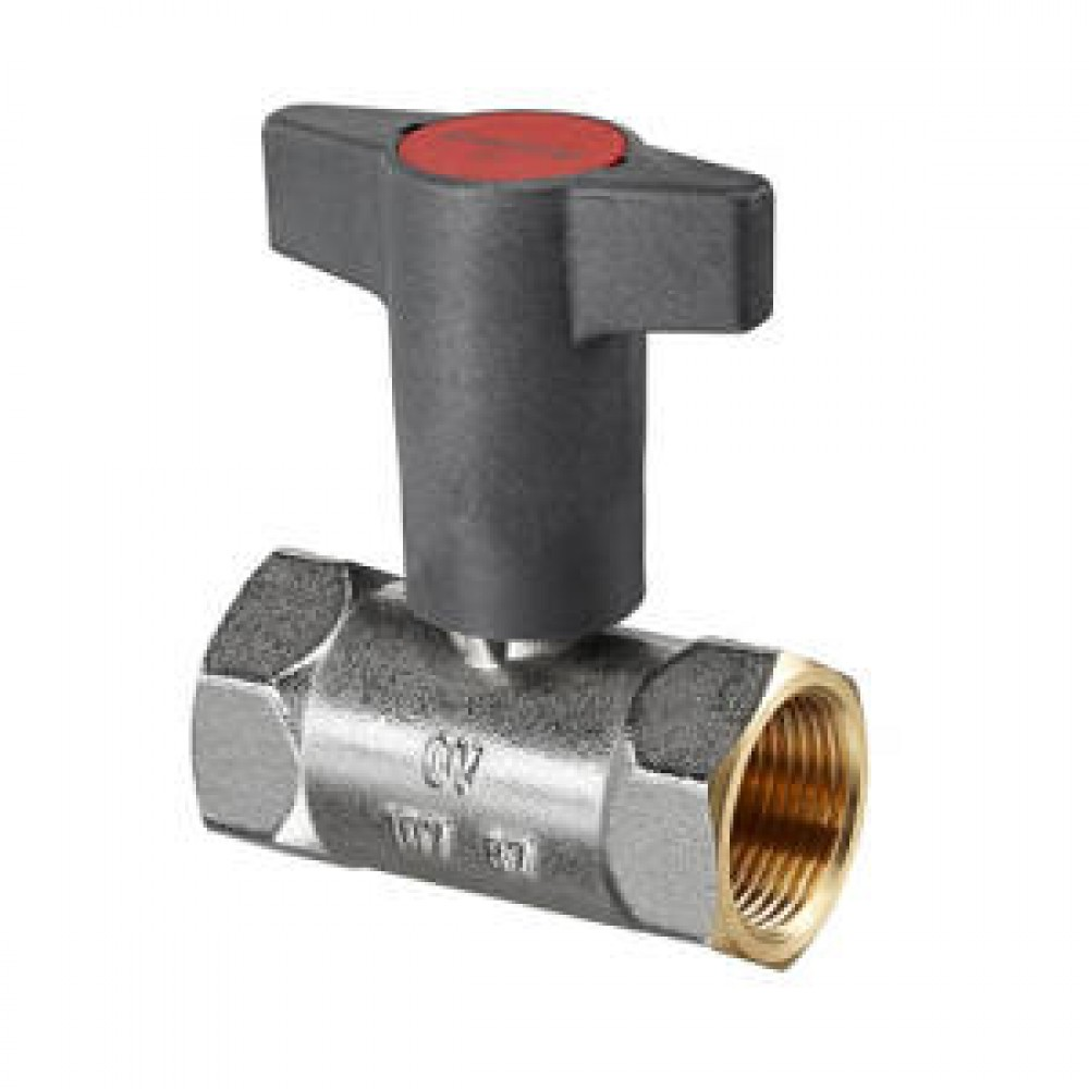 Кран шаровой полнопроходной Oventrop Optibal - 1'1/4 (ВР/ВР, PN16, Tmax 150°C, ручка-маховик черная) 1078710