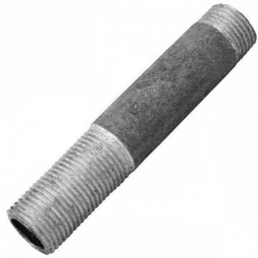 Сгон стальной удлиненный Ду 32 L=200мм без комплекта из труб по ГОСТ 3262-75