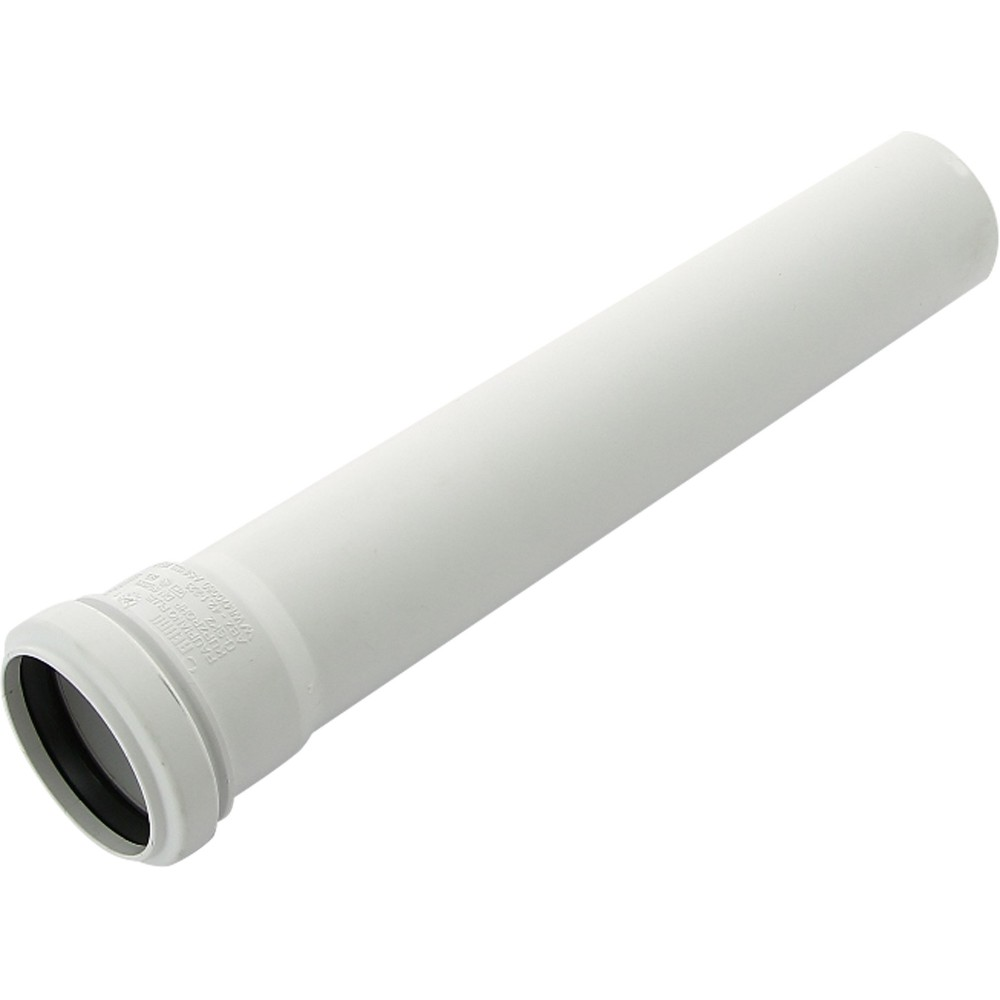 Труба PP-H с раструбом белая HT HTEMw Дн 50х1,8х1,0м Ostendorf 559150