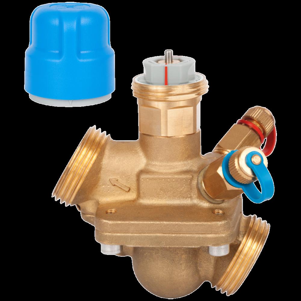 Клапан балансировочный автомат латунь AQT Ду 15 Ру16 НР Kvs=0.45м3/ч б/ниппелей Danfoss 003Z1802