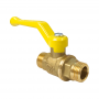 Кран шаровой латунь газ 11Б27фтМ Ду 20 Ру16 НР полнопроходной рычаг VALFEX VF.270.LR3.034