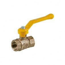 Кран шаровой латунь газ Стандарт 220  11б27п Ду 15 Ру16 ВР полнопроходной рычаг ГАЛЛОП 116008
