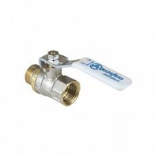 Кран шаровой латунь никель 1103 Standard Ду 15 Ру40 ВР/НР полнопроходной рычаг Aquasfera 1103-01