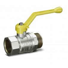 Кран шаровой латунь никель газ Pride Ду 15 Ру40 ВР/НР полнопроходной рычаг  11б27п LD 47.15.В-Н.Р .