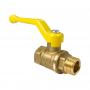 Кран шаровой латунь газ 11Б27фтМ Ду 20 Ру16 ВР/НР полнопроходной рычаг VALFEX VF.272.LR3.034
