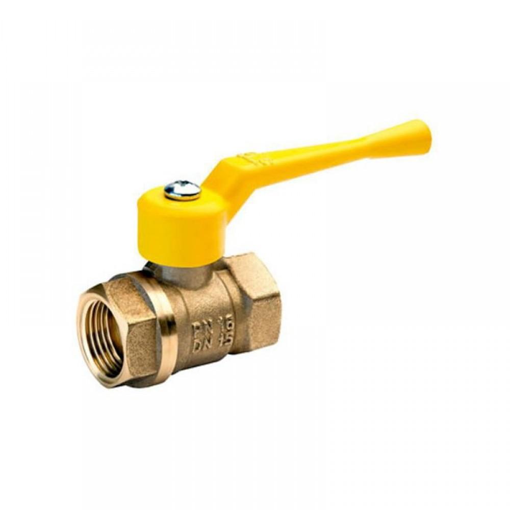 Кран шаровой латунь газ 11б27п А10 Ду 32 Ру25 ВР полнопроходной рычаг БАЗ А500мм