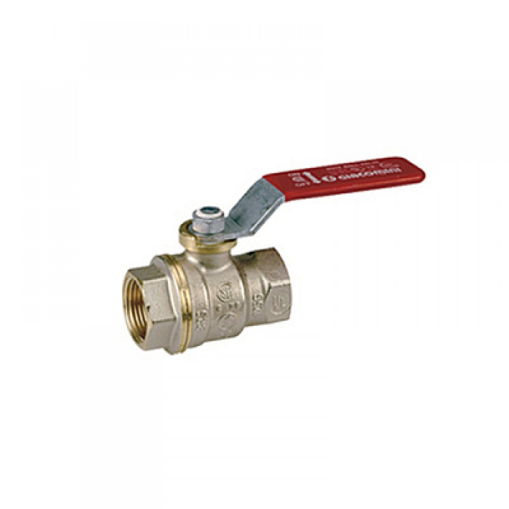 Кран шаровой латунь никель R910 Ду 20 Ру42 ВР полнопроходной рычаг Giacomini R910X024