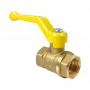Кран шаровой латунь газ 11Б27фтМ Ду 32 Ру16 ВР полнопроходной рычаг VALFEX VF.271.LR3.114