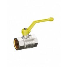 Кран шаровой латунь никель газ Pride Ду 15 Ру40 ВР полнопроходной рычаг  11б27п LD 47.15.В-В.Р .