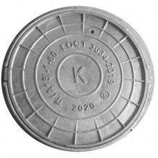 Люк чугун (К) канализационный Л (легкий) круглый (А15) m=58кг h=60мм ГОСТ 3634-99 ООО СанТехПром