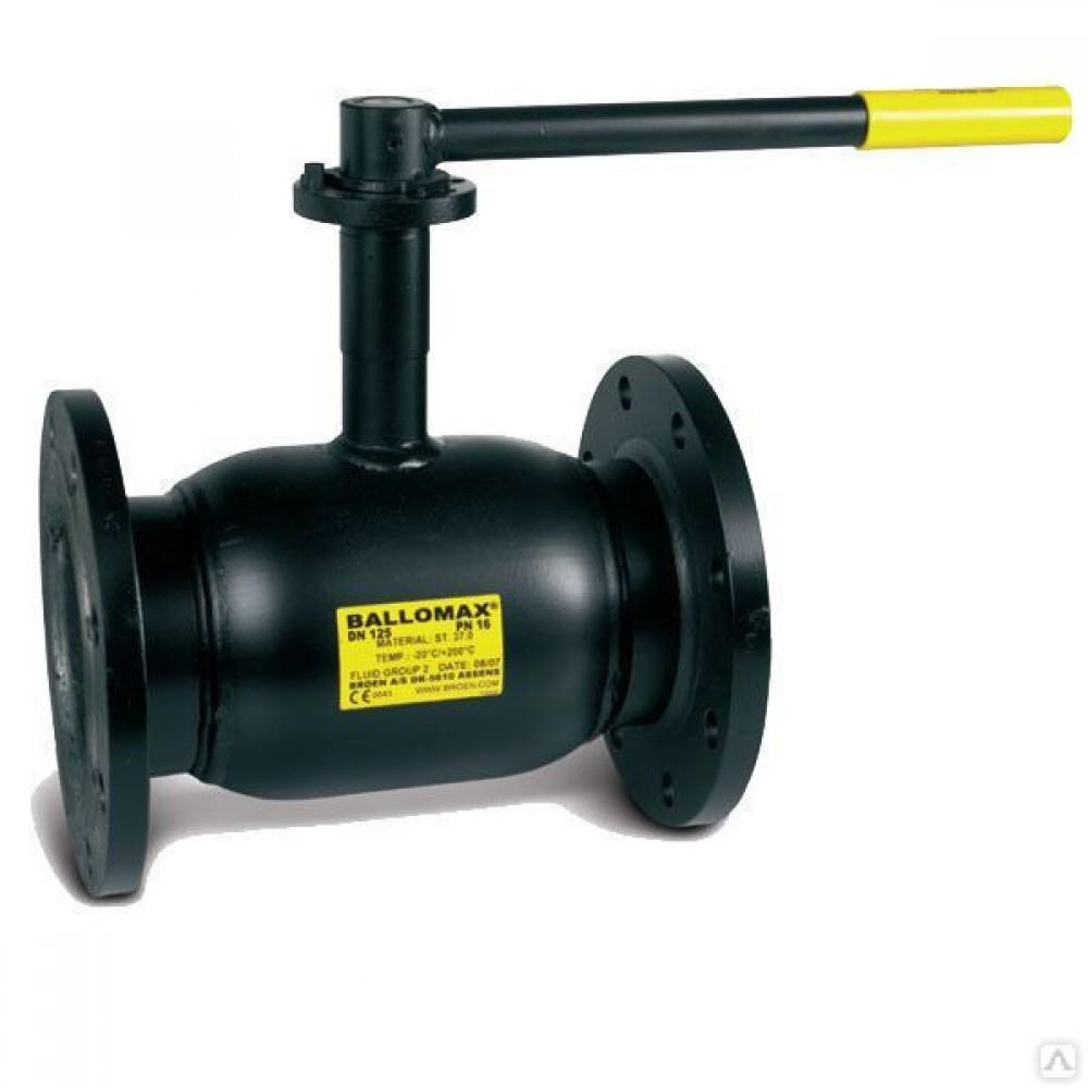 Кран шаровой стальной Ballomax КШТ 60.113 Ду 40 Ру40 фланцевый полнопроходной BROEN КШТ 60.113.040.А.40