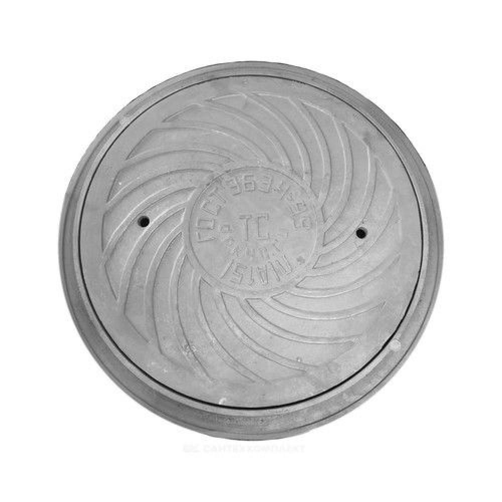 Люк чугун (К) канализационный Л (легкий) круглый (А15) m=55кг h=50мм ГОСТ 3634-99 ДПК