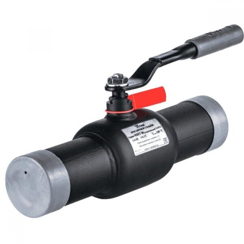 Кран шаровой стальной 11с67п Ду 250 Ру25 под приварку Titan 2ЦП.00.1.025.250