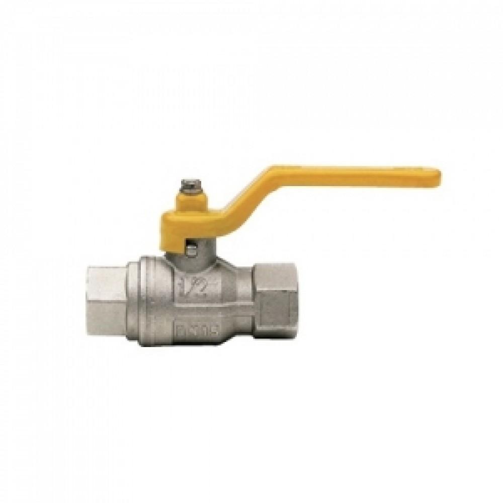 Кран шаровой полнопроходной ITAP BERLIN 070 - 1' (ВР/ВР, PN5, ручка-рычаг желтая, для газа) 070B100