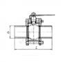 Кран шаровой стальной 11с67п Ду 150 Ру16 под приварку Маршал 2СП.00.1.016.150/100