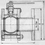 Кран шаровой стальной 11с67п Ду 50 Ру16 фланцевый полнопроходной Маршал СФ.00.1.016.050 .