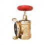 Клапан пожарный латунный  угловой 90 гр КПАЛ 50 Ду 50 1,6 МПа муфта/соединительная головка 50 мм с датчиком положения ДППК 20.5 Апогей 110054